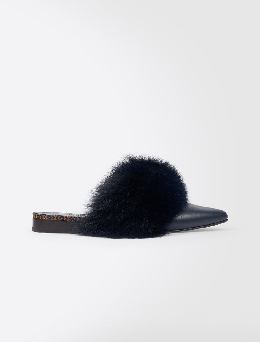 Fox fur clogs Weekend Maxmara