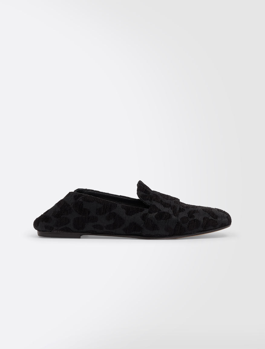 Loafers in jacquard fabric and mink Weekend Maxmara