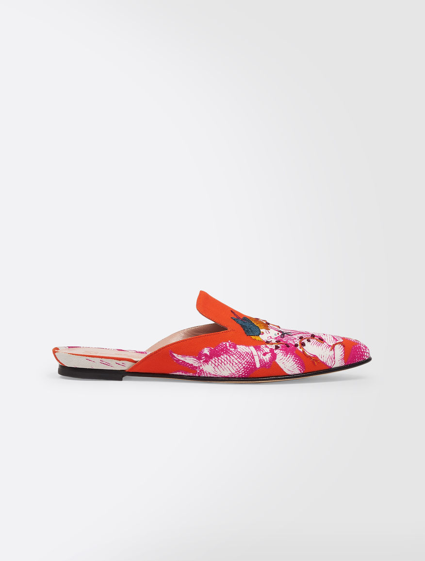 Clogs in printed canvas Weekend Maxmara