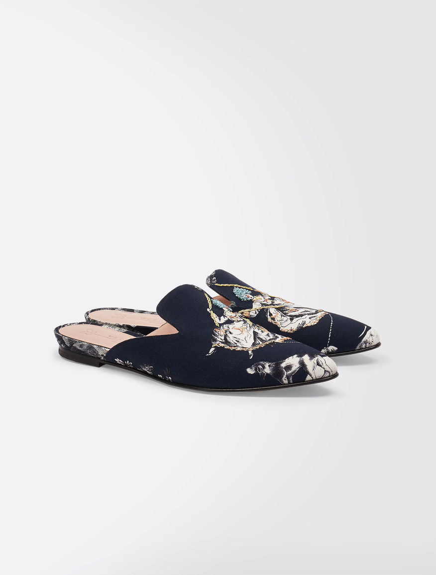 Trophy Day - Clogs in printed canvas Weekend Maxmara