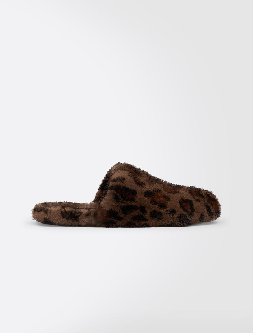 Clogs in spotted mink Weekend Maxmara