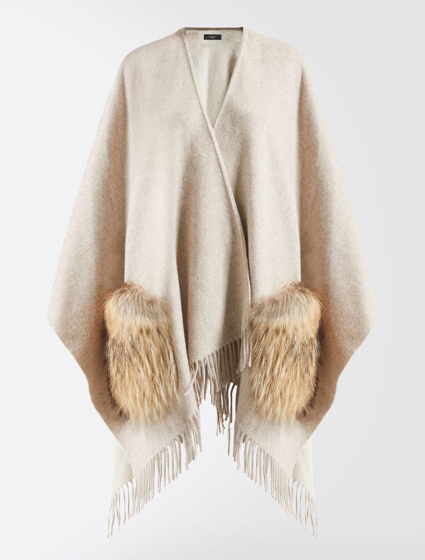Wool and fur cape Weekend Maxmara