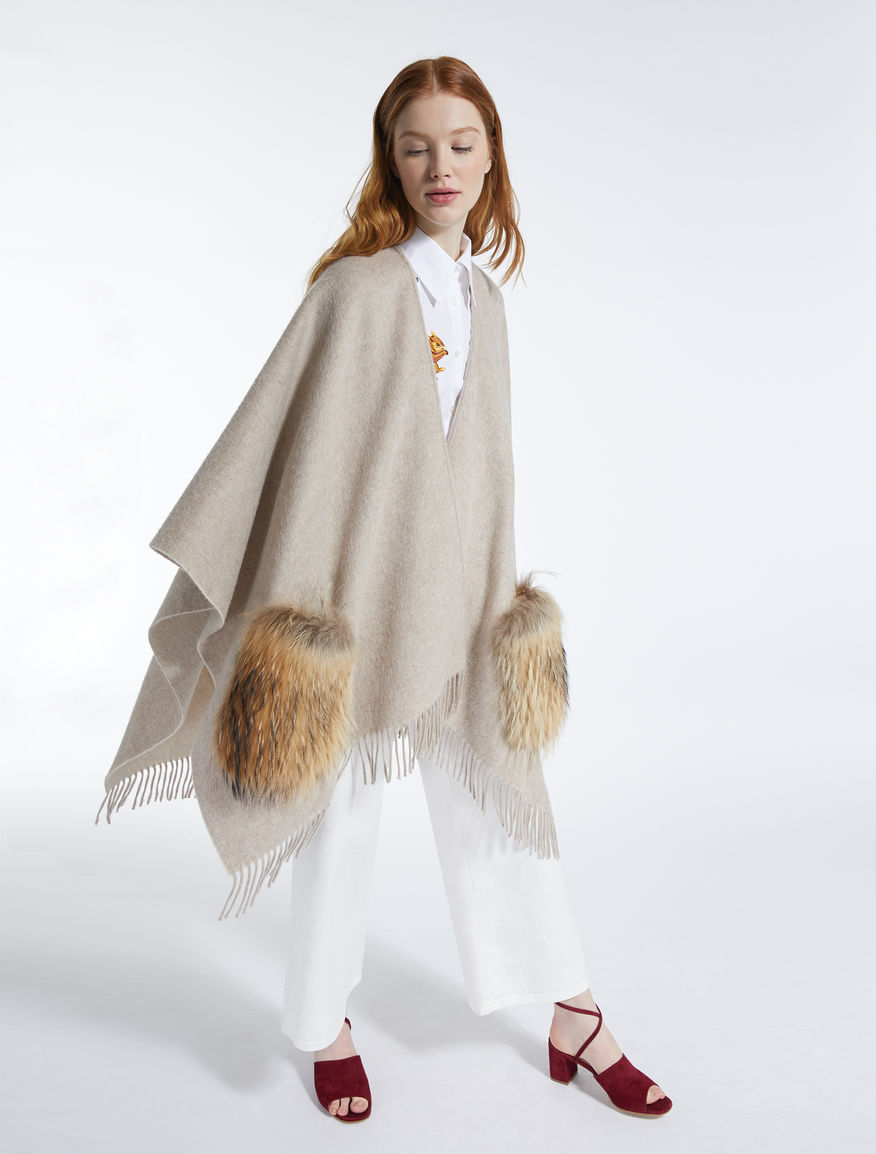 Wool and fur cape Weekend Maxmara