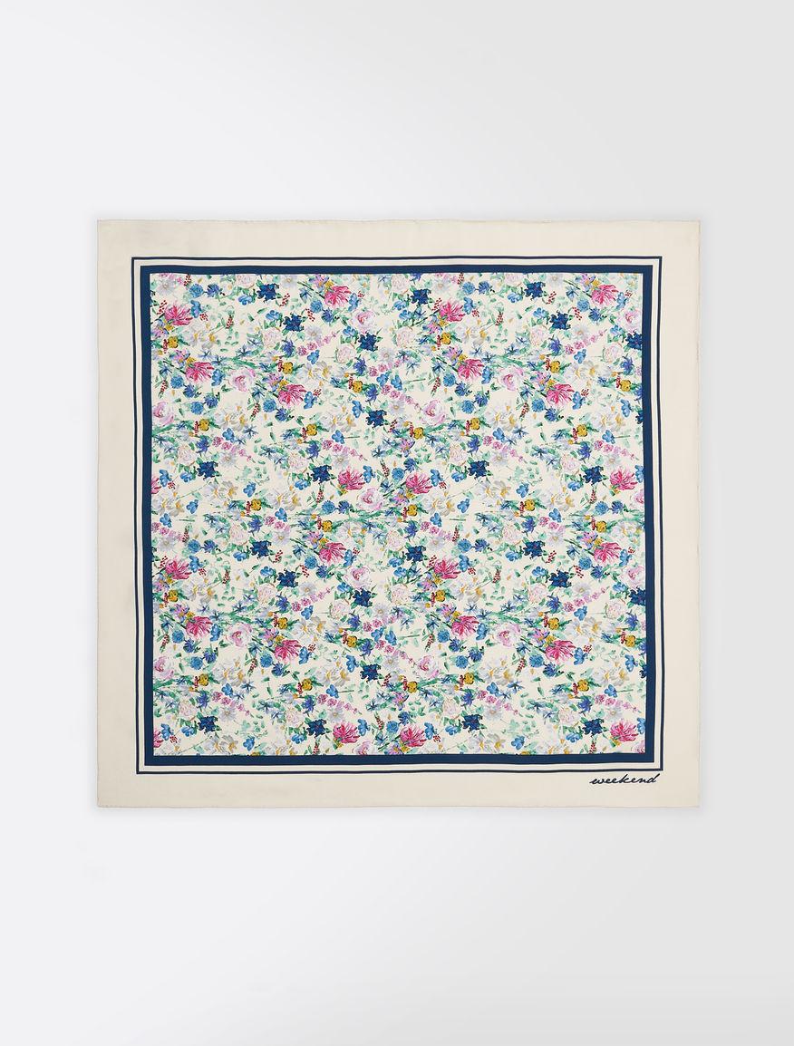 Printed silk twill foulard Weekend Maxmara