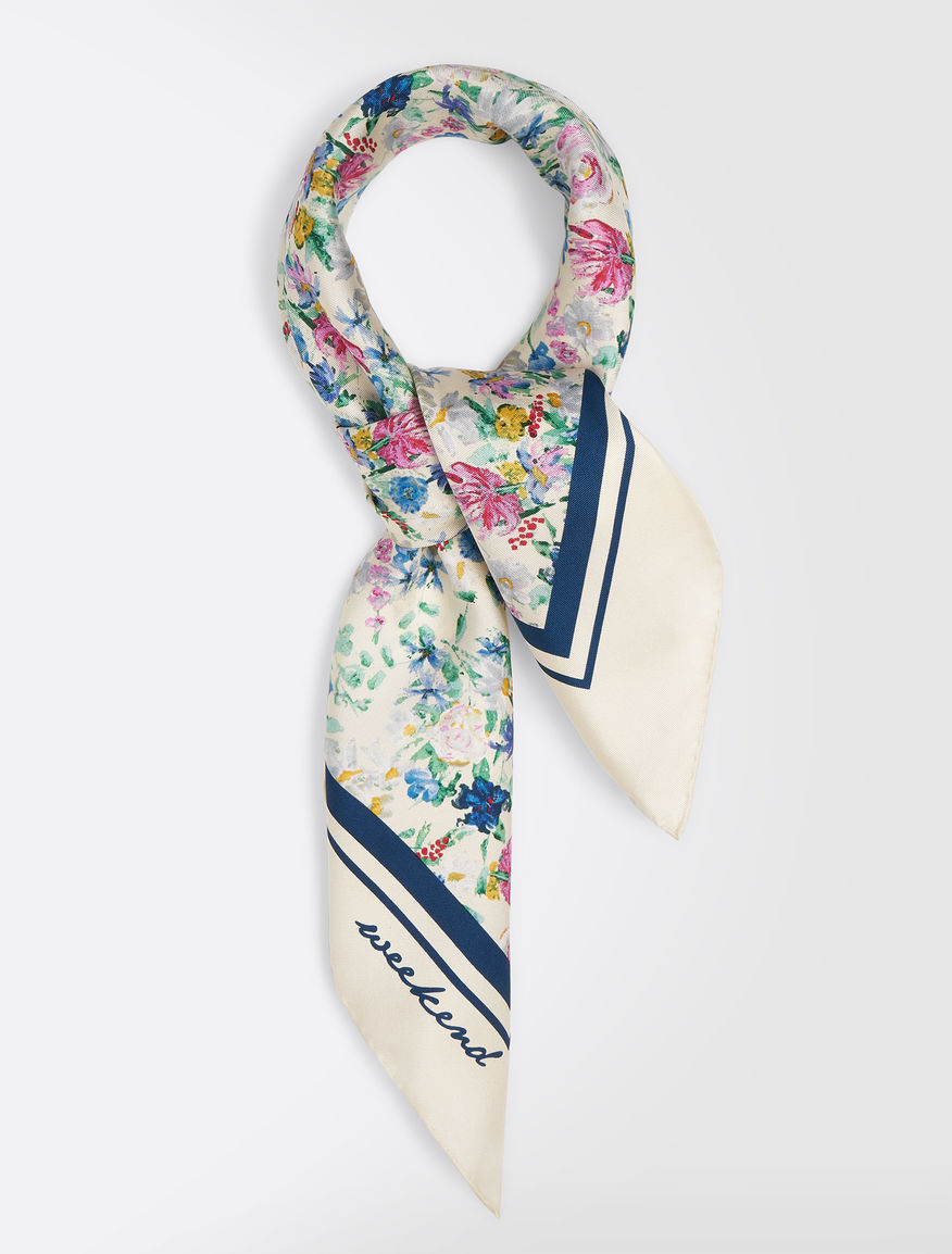 Foulard in twill di seta stampato Weekend Maxmara