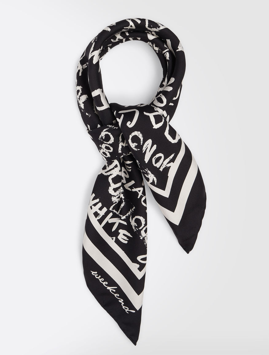 Printed silk twill foulard Weekend Maxmara