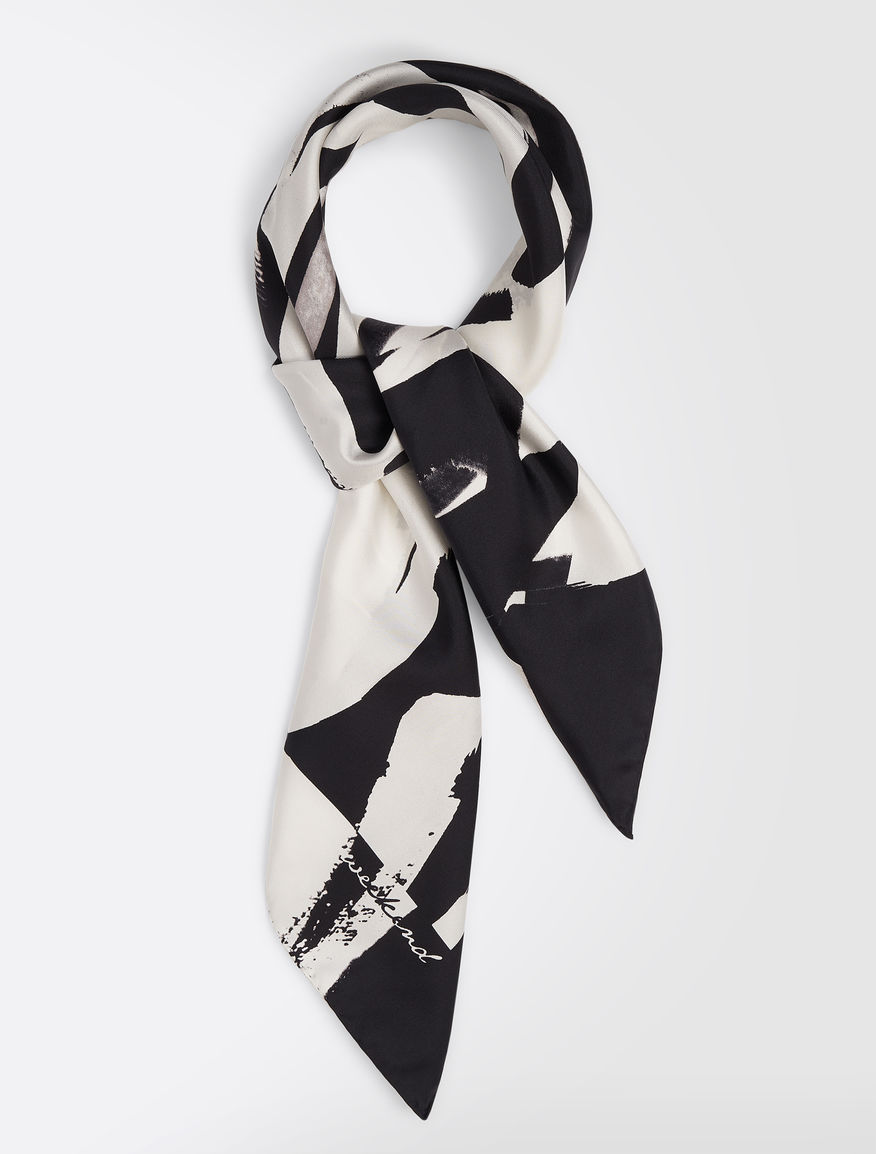 Foulard in twill di seta stampata Weekend Maxmara