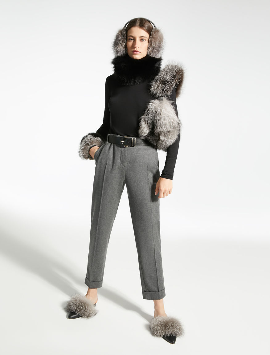 Fox fur earmuffs Weekend Maxmara