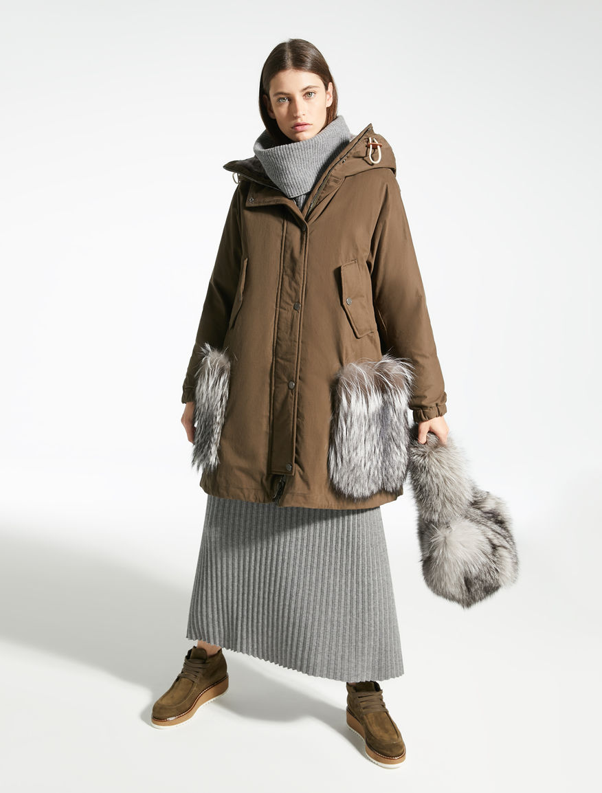 Fox fur crossbody bag Weekend Maxmara