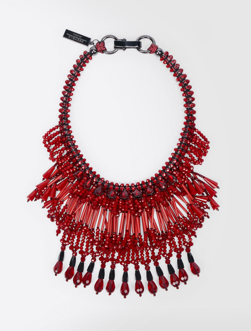 Rhinestone and glass necklace Weekend Maxmara