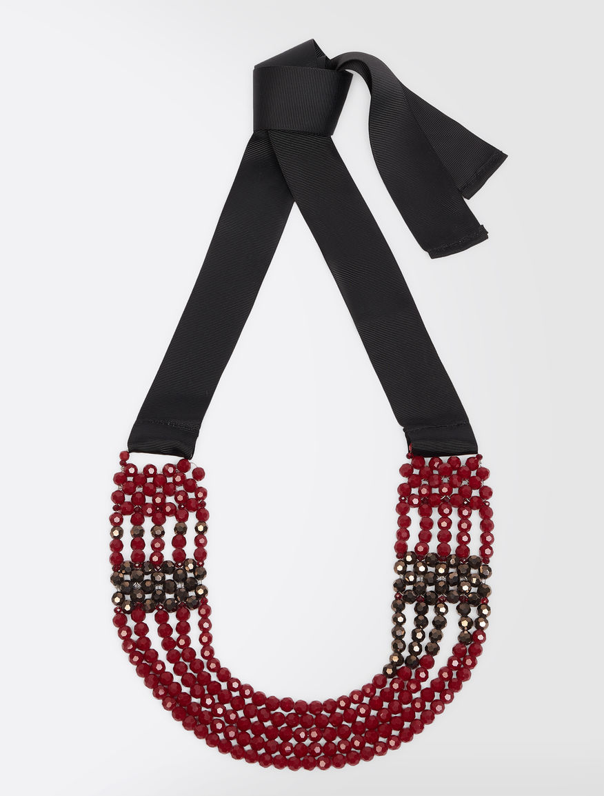 Multi-strand necklace with beads Weekend Maxmara