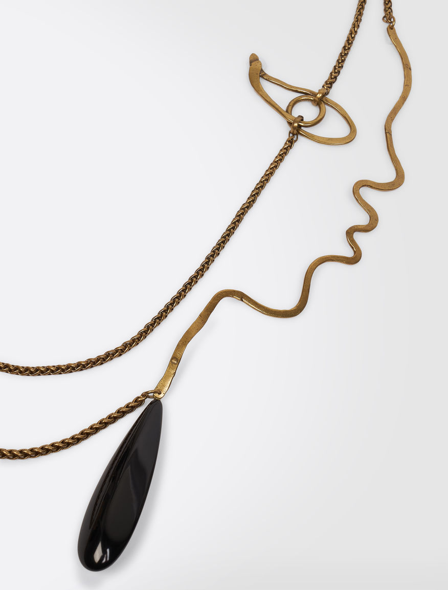 Metal necklace with pendant Weekend Maxmara