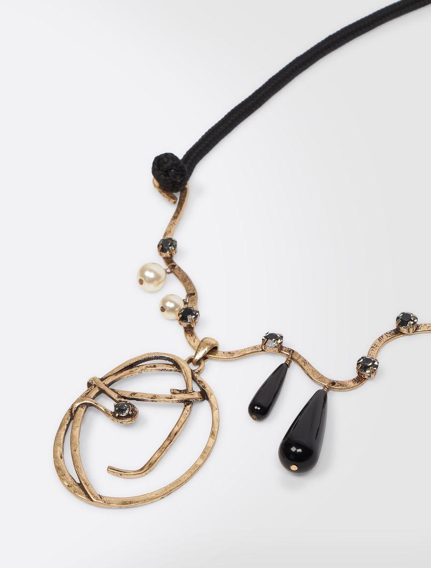 Metal necklace with pendant Weekend Maxmara