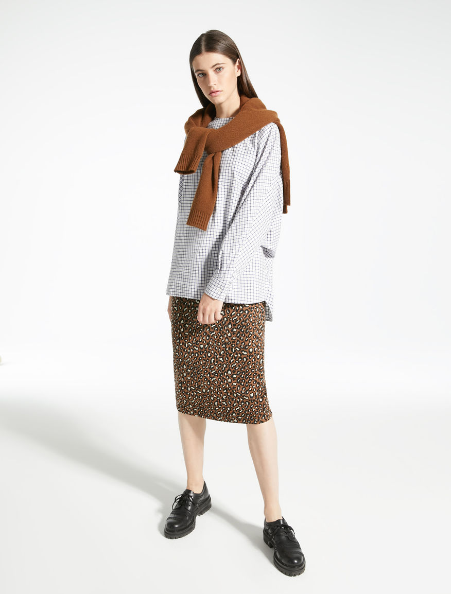 Technical jersey skirt with jacquard pattern Weekend Maxmara