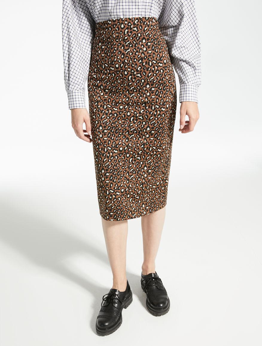 Technical jersey skirt with jacquard pattern Weekend Maxmara