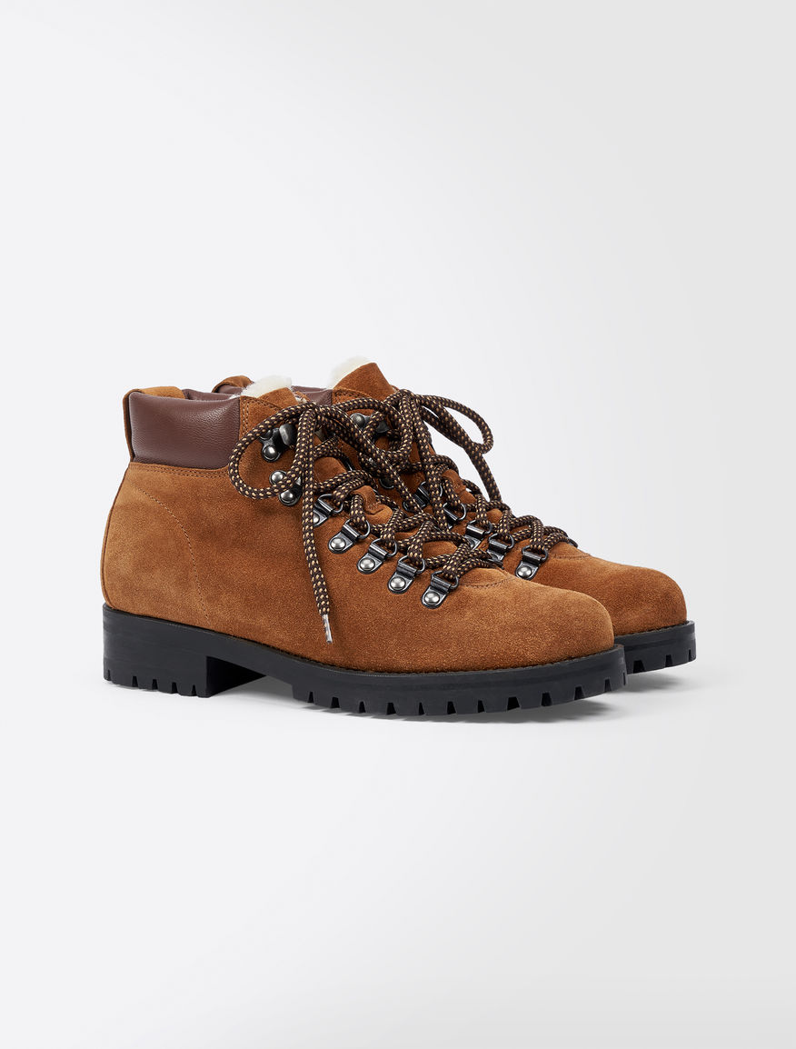 Shearling and leather half boot Weekend Maxmara
