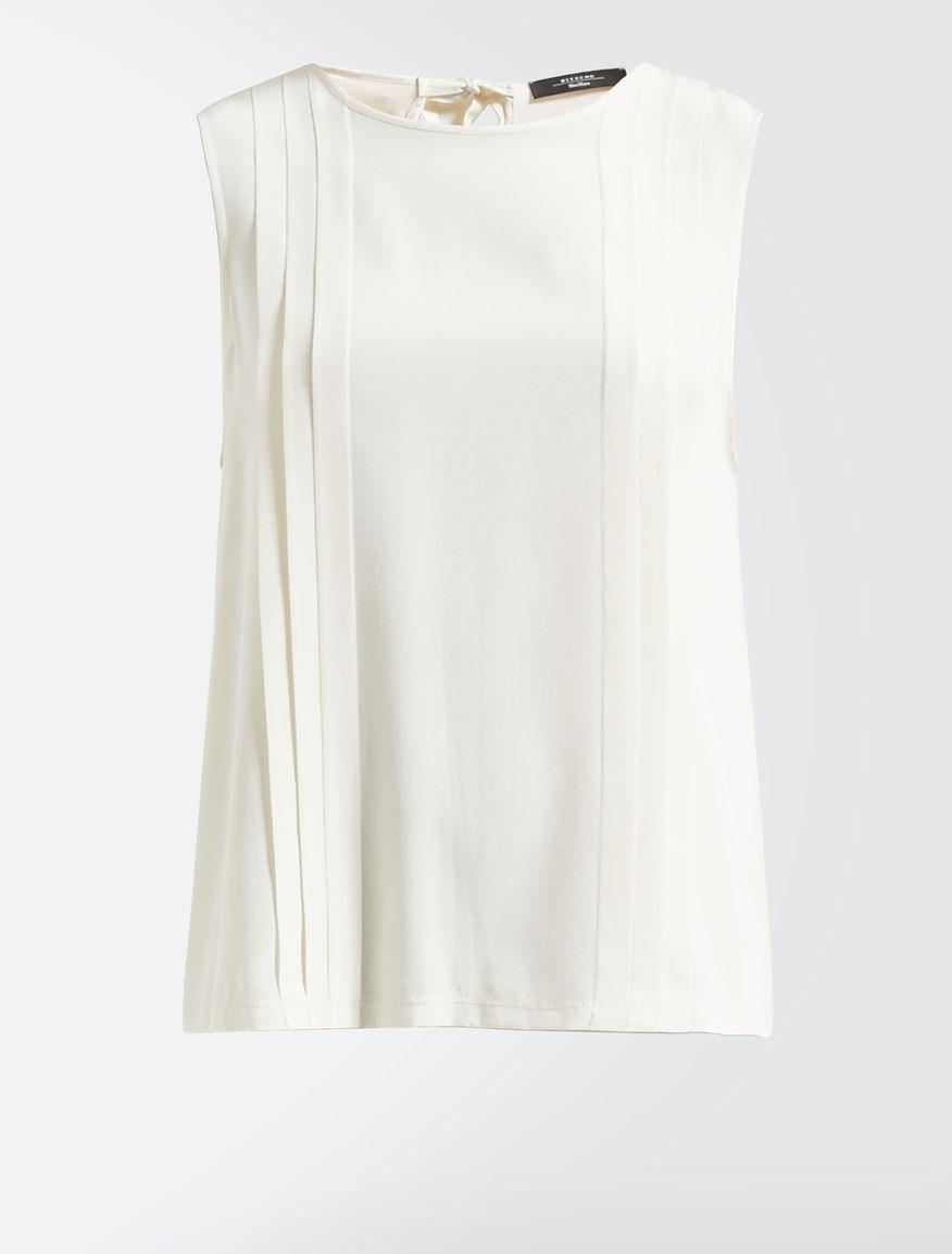 Silk and stretch jersey top Weekend Maxmara