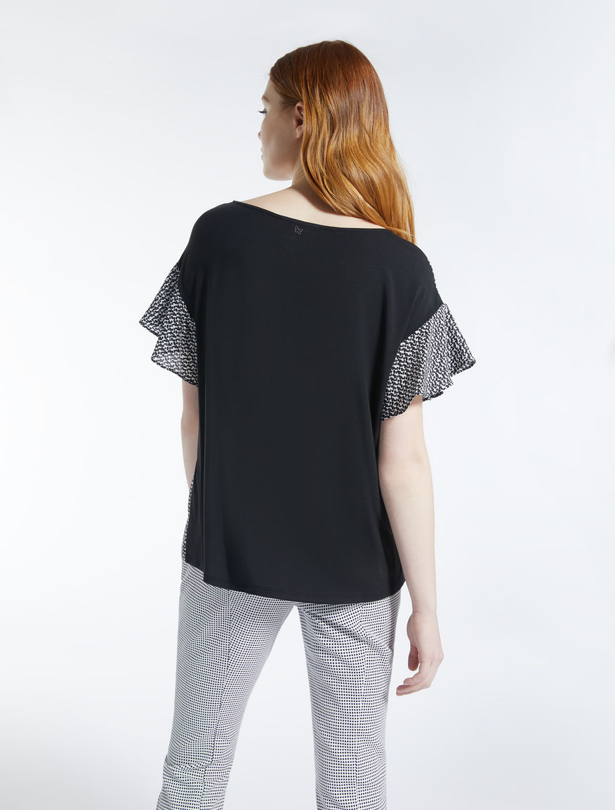Silk and stretch jersey T-shirt Weekend Maxmara