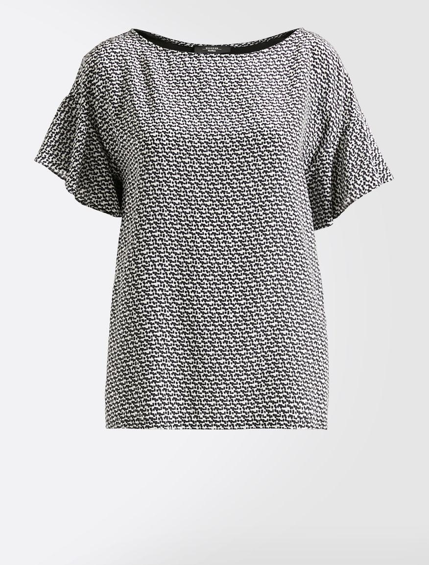 T-shirt in seta e jersey stretch Weekend Maxmara