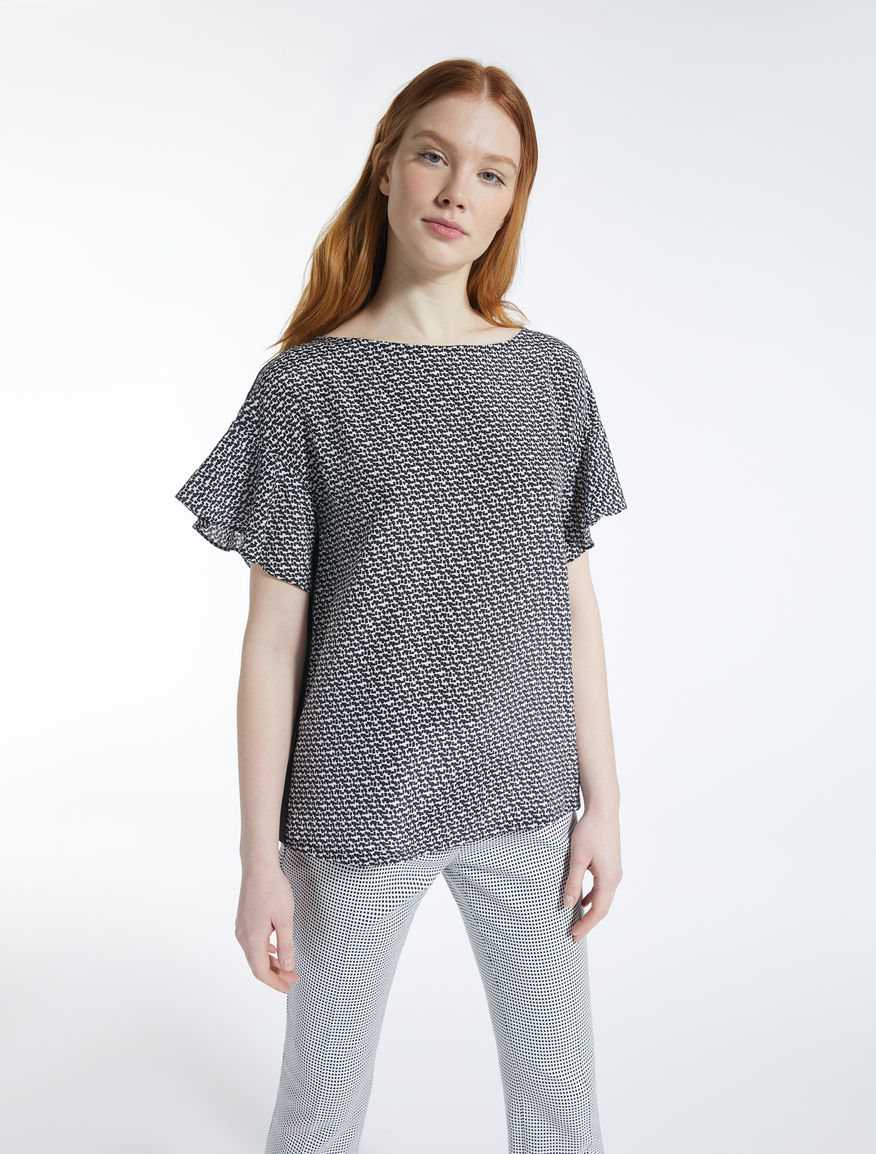 T-shirt in seta e jersey stretch Weekend Maxmara
