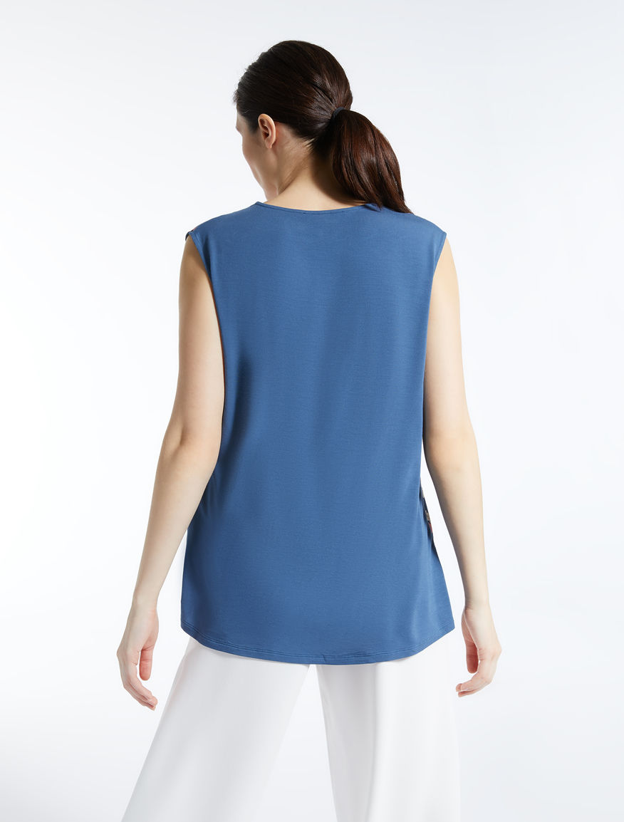 Silk and stretch jersey top Weekend Maxmara