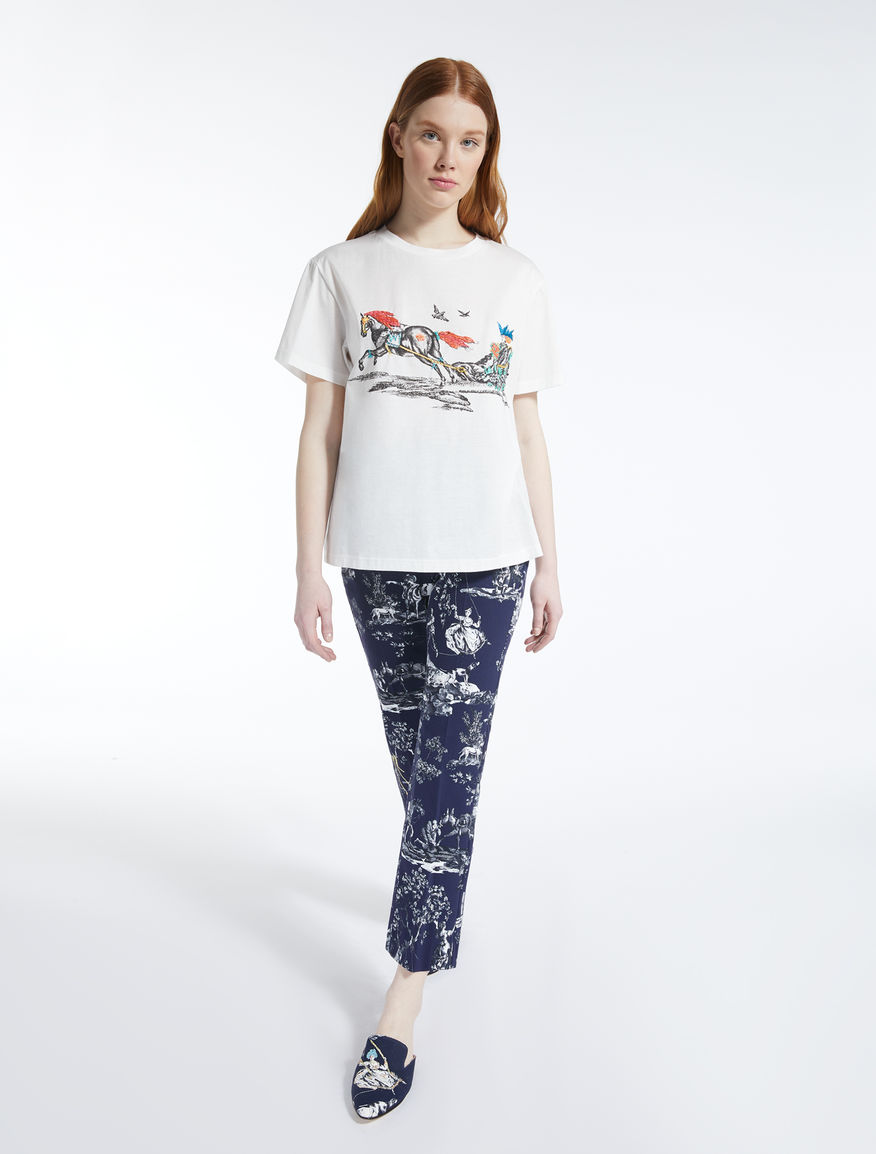 Trophy Day - Cotton jersey T-shirt Weekend Maxmara