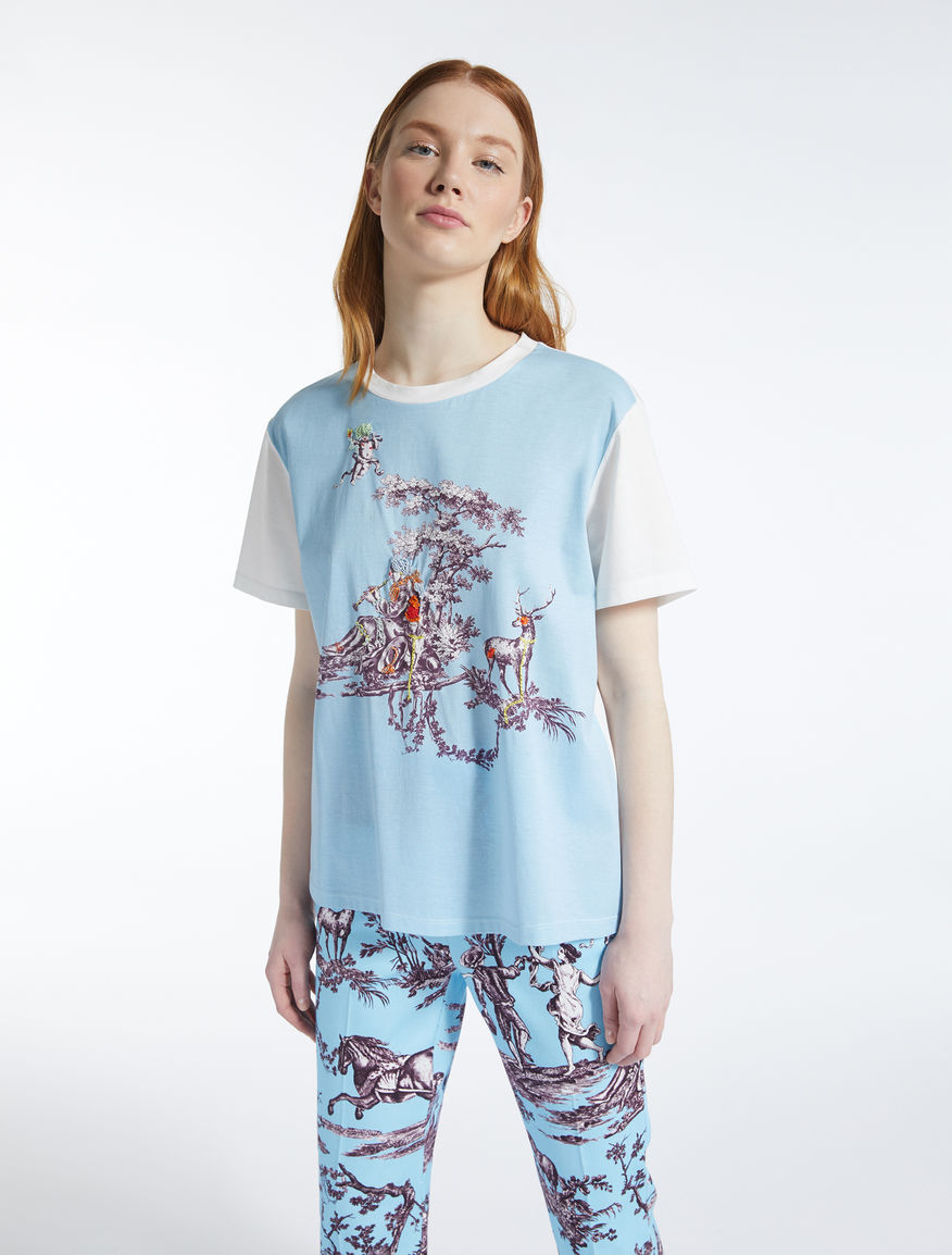 Trophy Day - T-shirt in jersey di cotone Weekend Maxmara