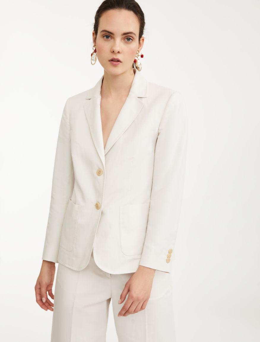 Cotton and linen blazer Weekend Maxmara