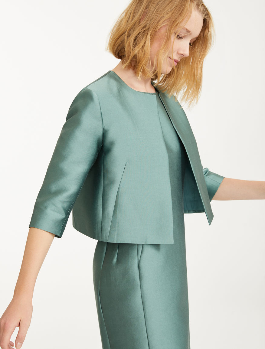 Silk and cotton satin jacket Weekend Maxmara