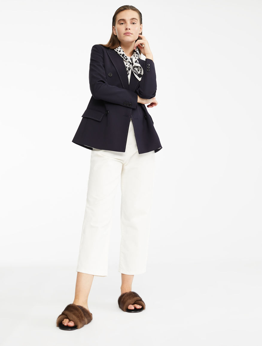 Blazer in twill di lana e viscosa Weekend Maxmara