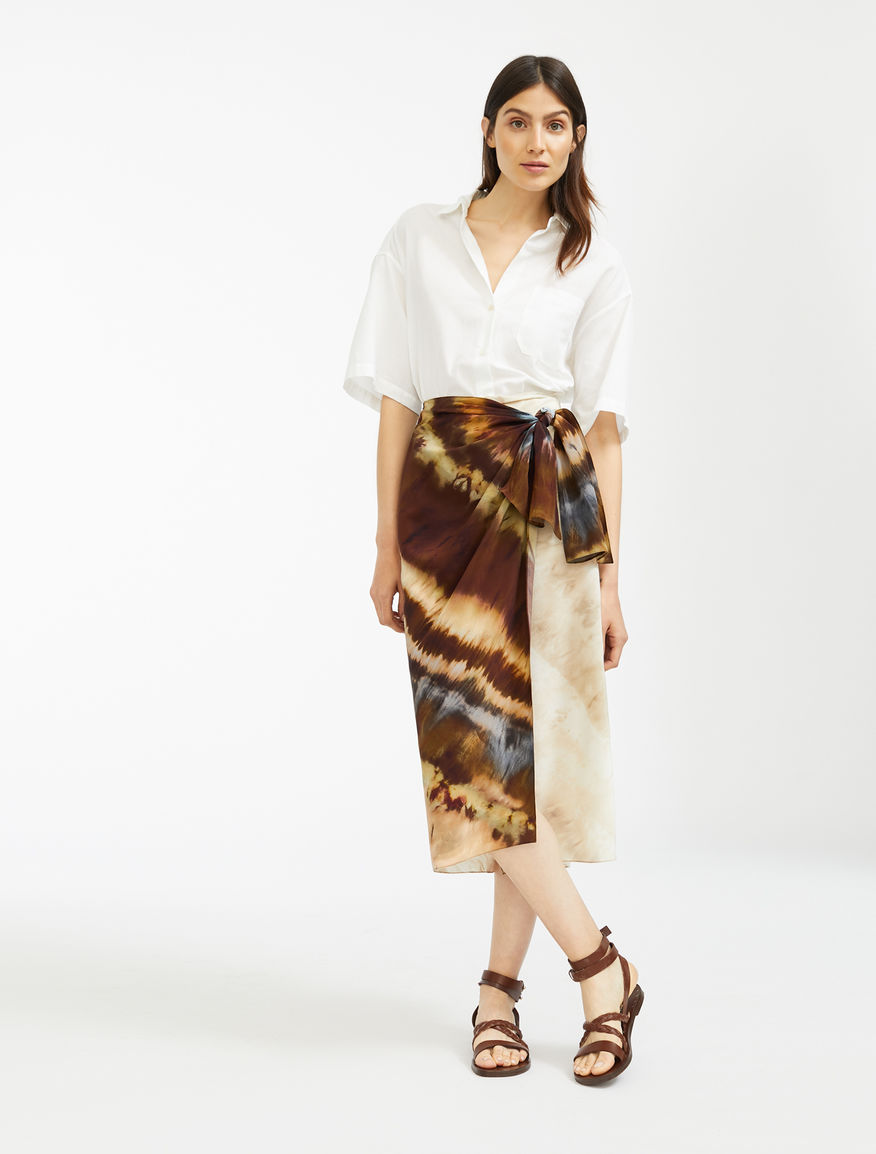 Silk crepe de chine skirt Weekend Maxmara