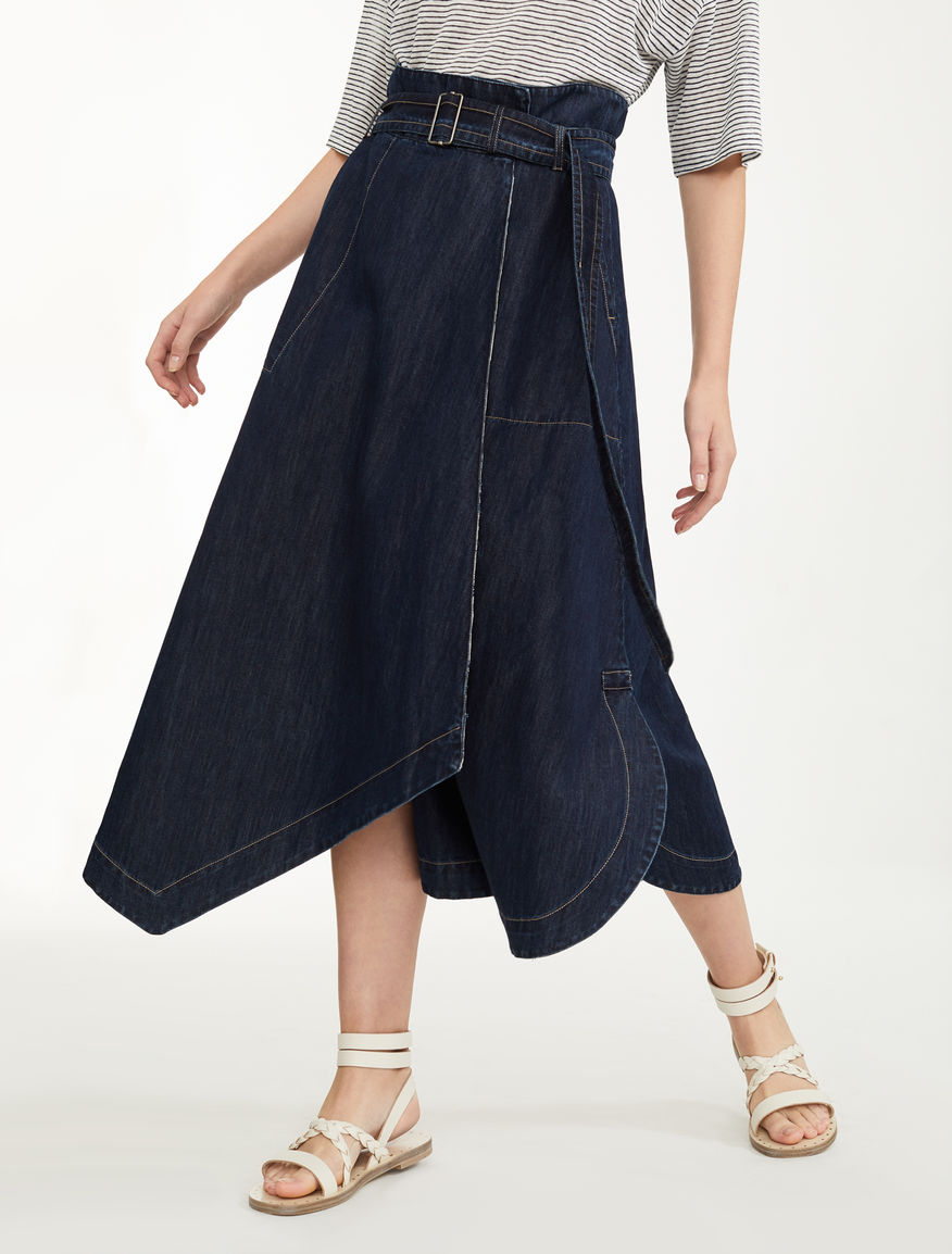 Gonna in denim di cotone Weekend Maxmara