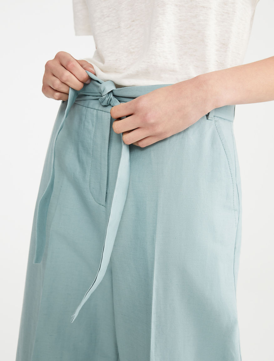 Pantaloni in cotone e lino Weekend Maxmara