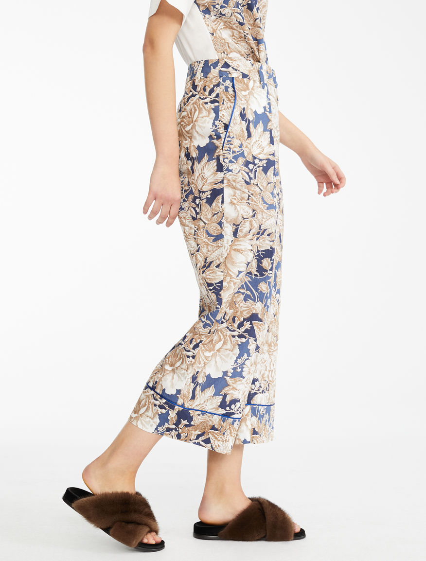 Cotton poplin trousers Weekend Maxmara