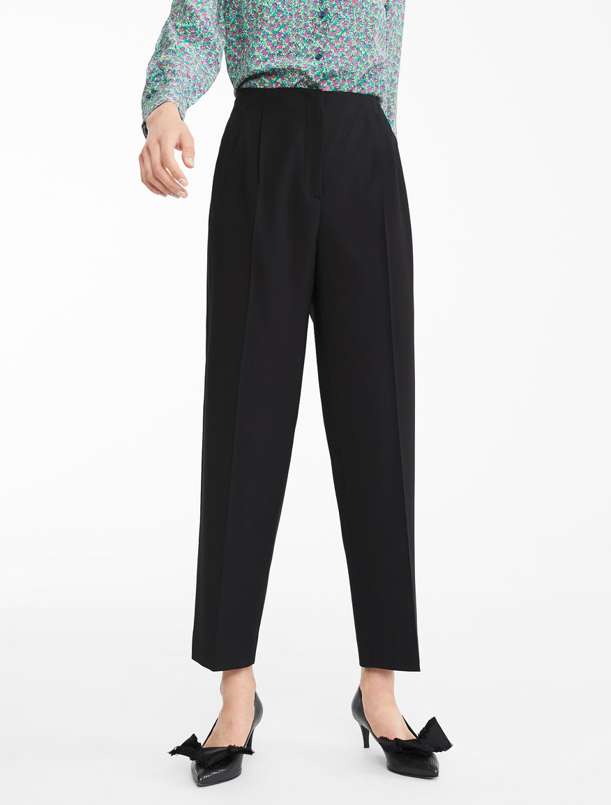 Pantaloni in twill di lana e viscosa Weekend Maxmara