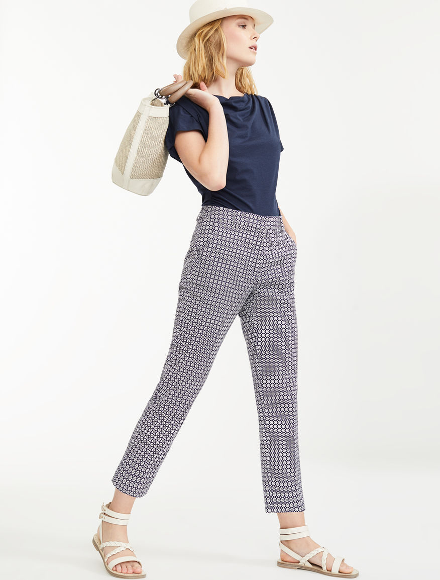 Pantaloni in stuoia di cotone Weekend Maxmara