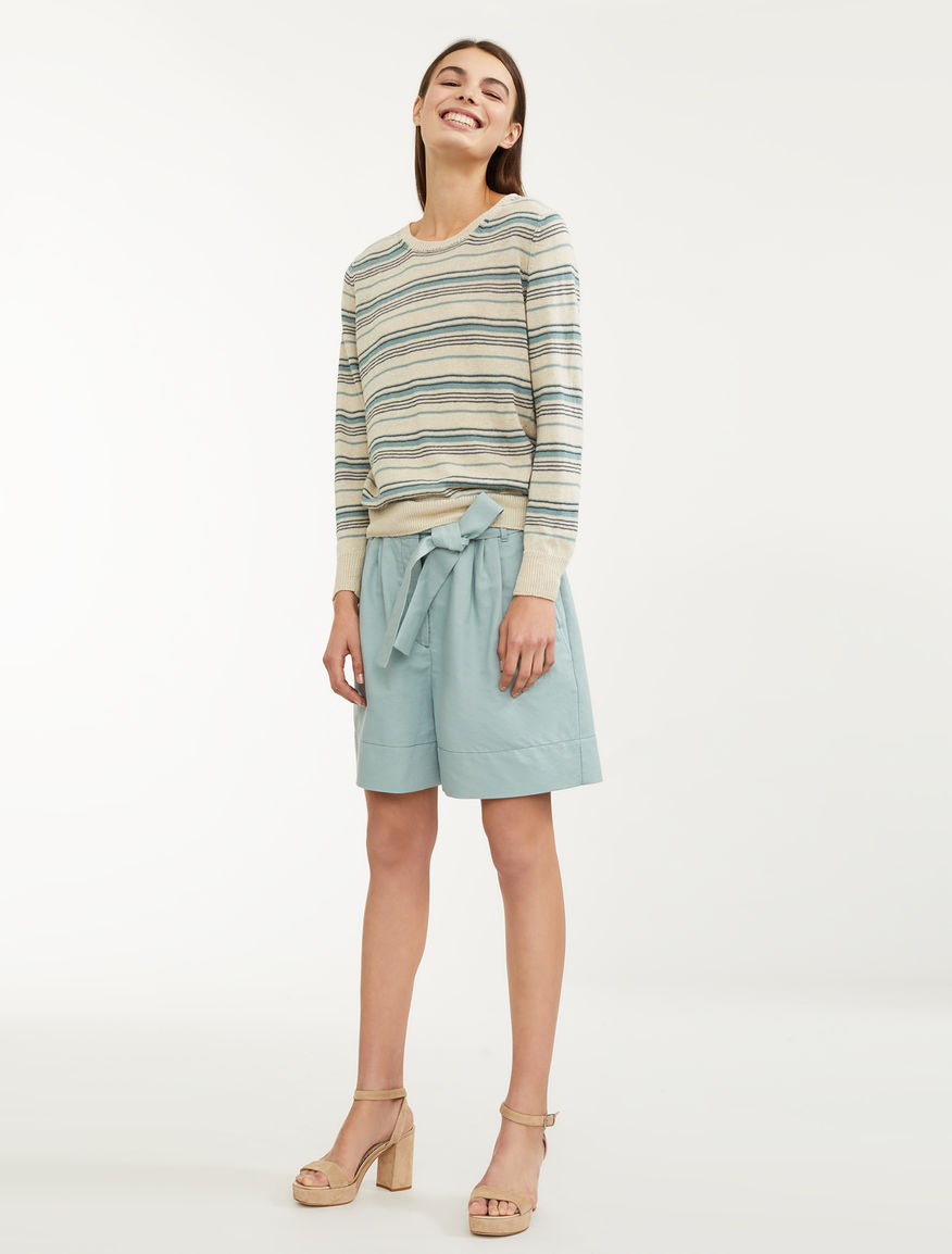Cotton and linen shorts Weekend Maxmara