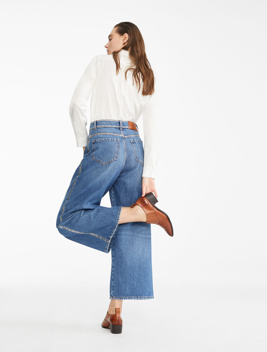 Wide-leg denim jeans Weekend Maxmara