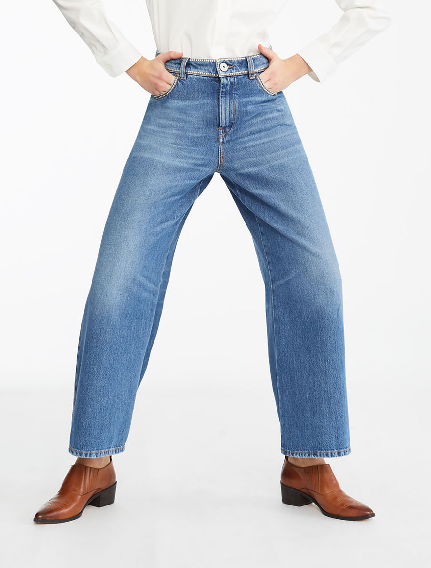 Jeans ampio in denim Weekend Maxmara