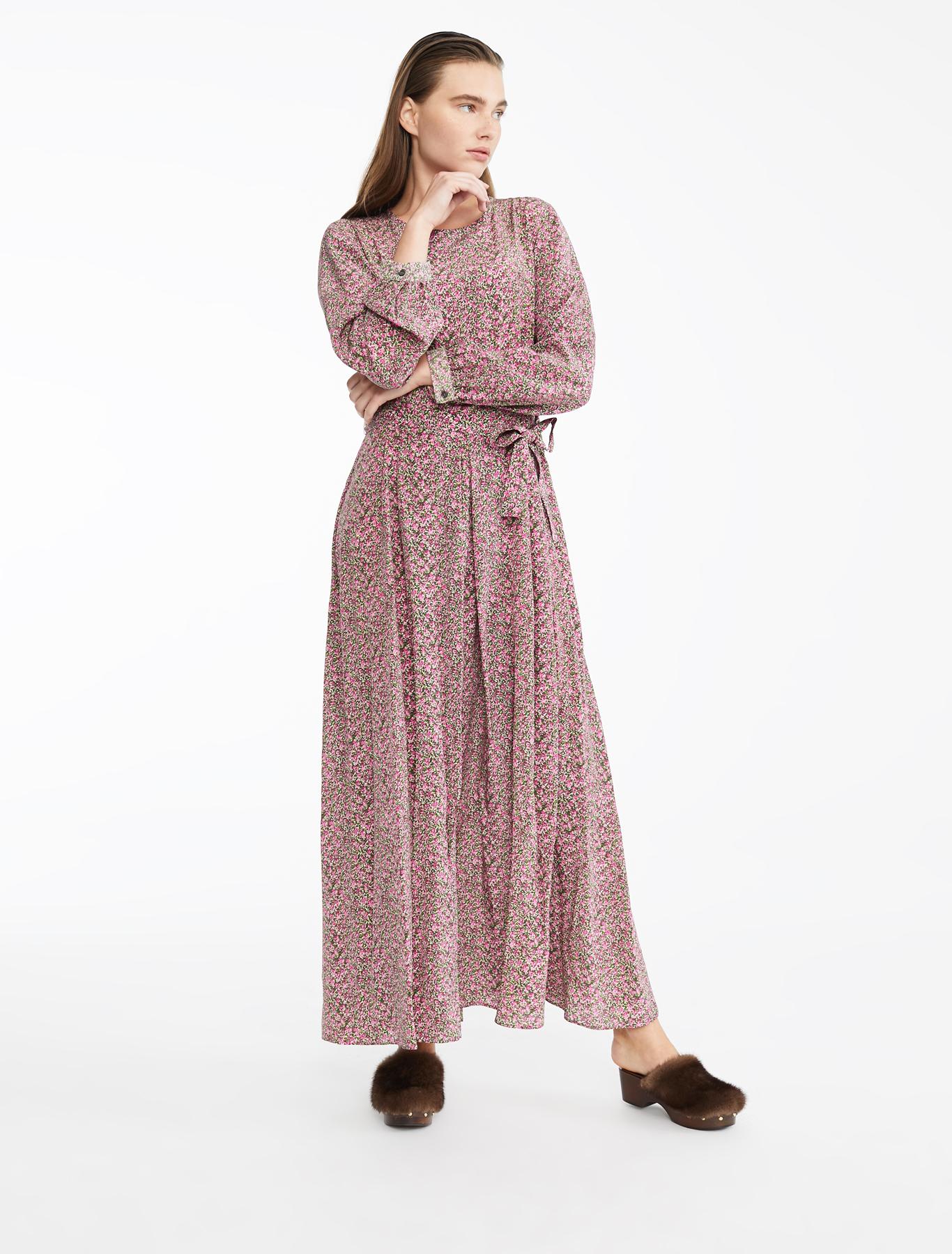 42b338345fbe Silk crepe de chine dress, pink - Weekend Max Mara