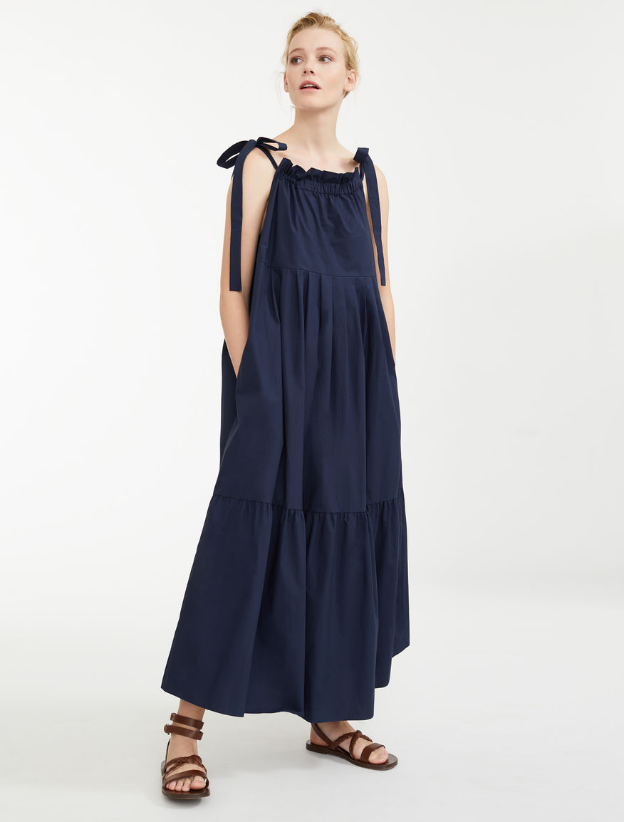 5a22ef8a462 Cotton poplin dress, ultramarine - Weekend Max Mara