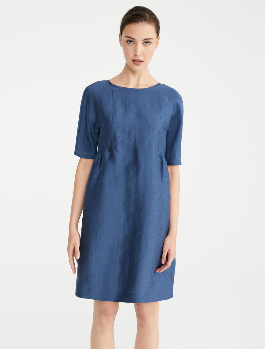 Dress in silk and linen satin Weekend Maxmara