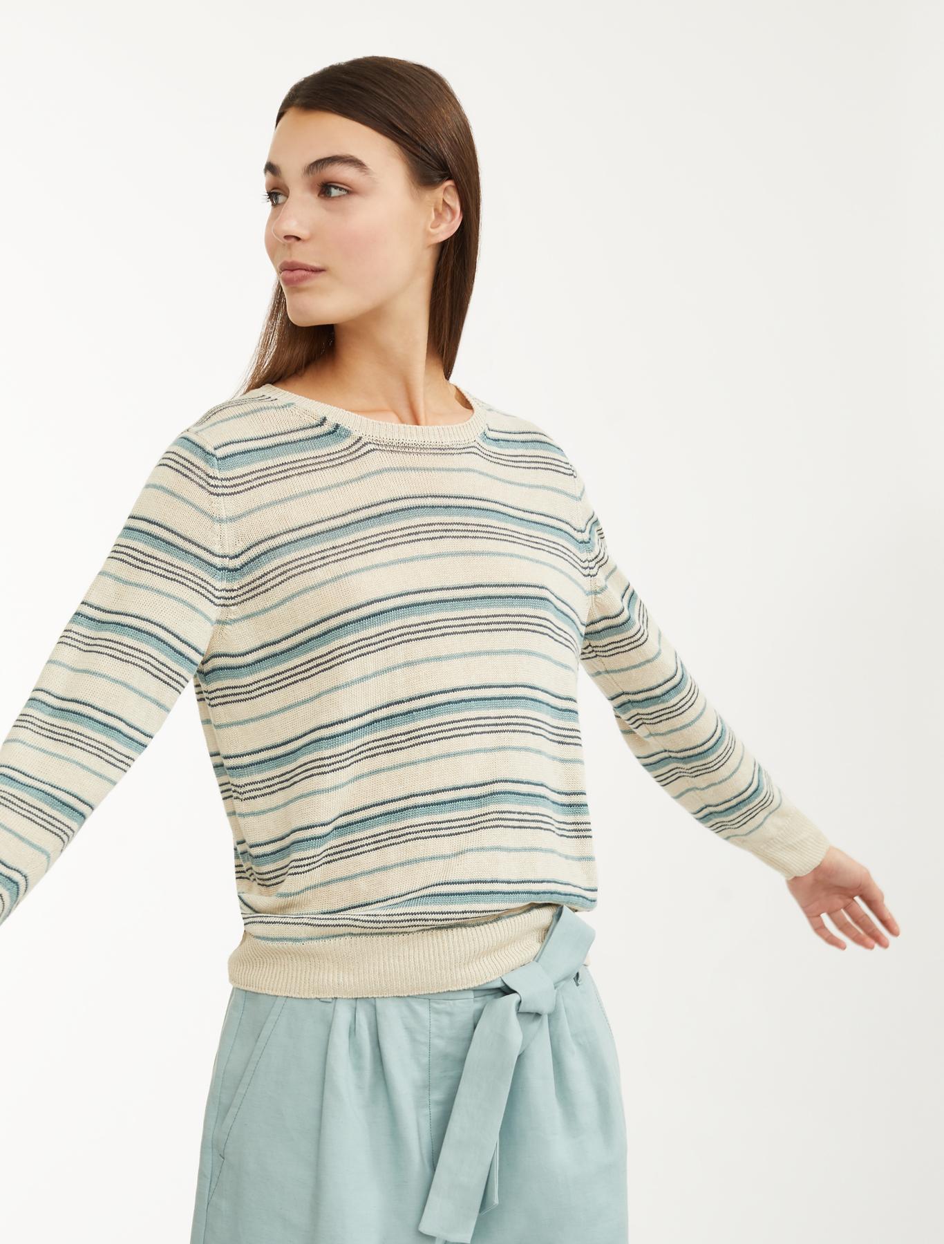 27048f04d564 Linen yarn jumper