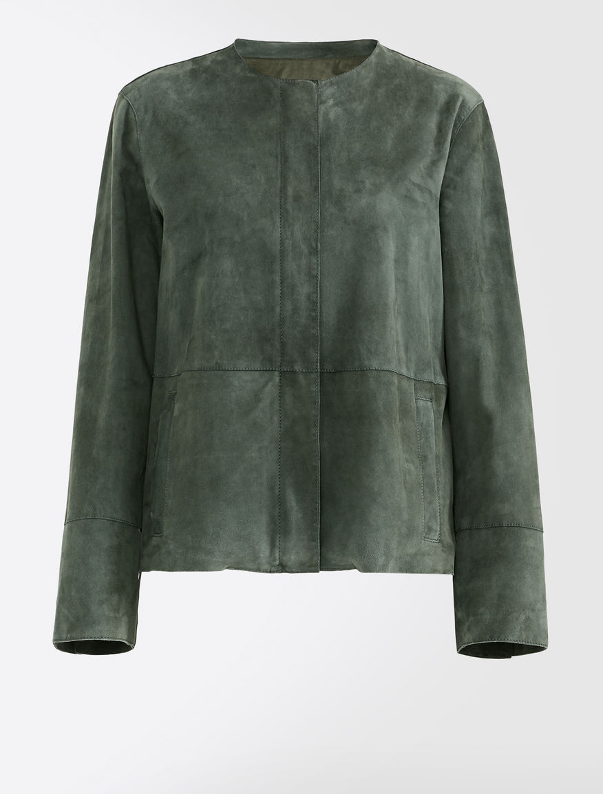 Suede jacket Weekend Maxmara