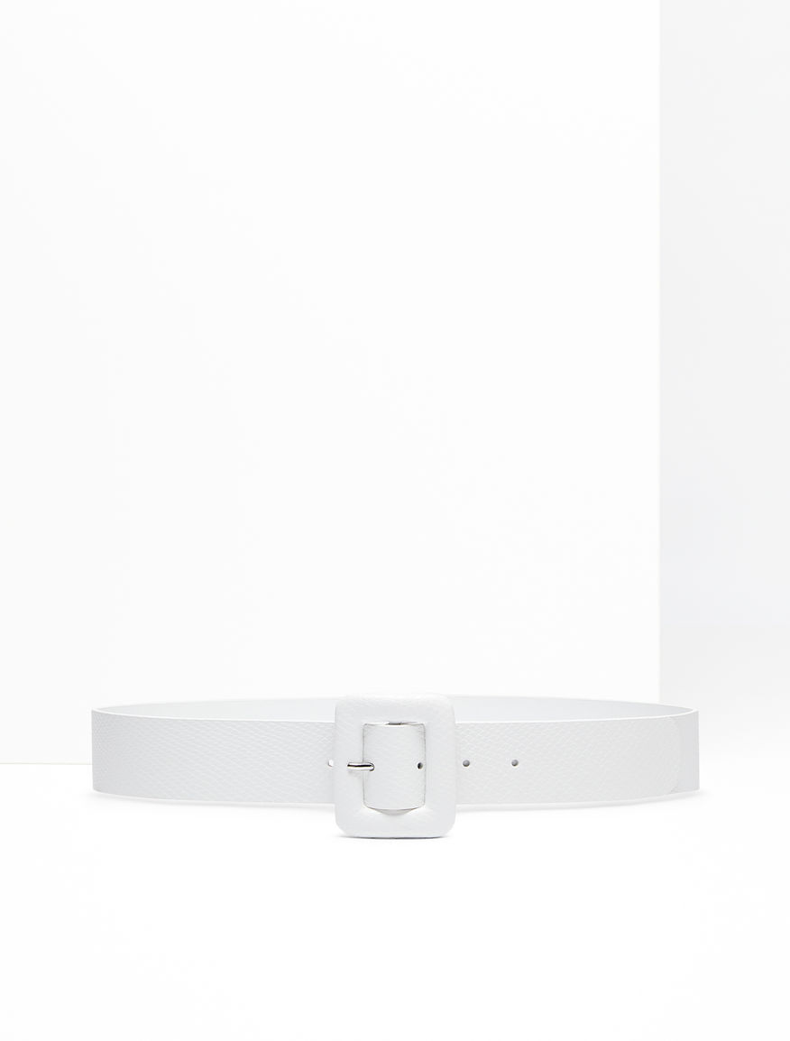 Python-print leather belt Weekend Maxmara