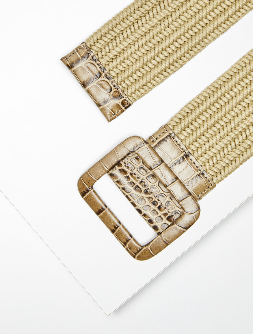 Cotton and printed leather waist belt Weekend Maxmara