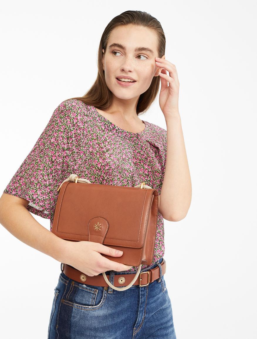 Leather messenger bag Weekend Maxmara