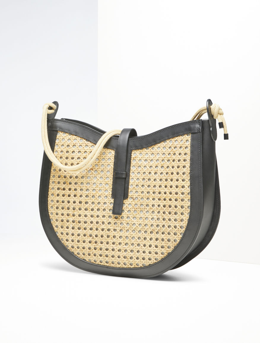 Hobo bag in paglia e pelle Weekend Maxmara
