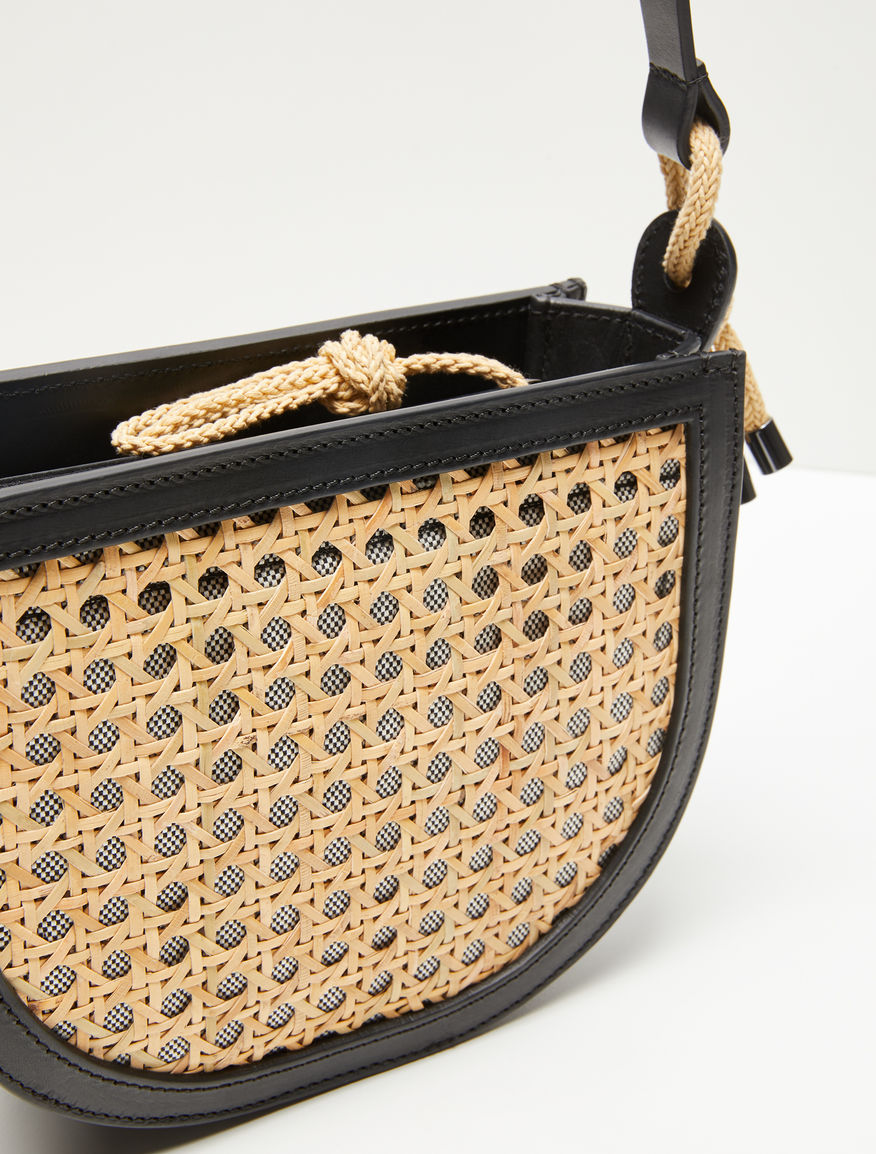 Straw and leather bag Weekend Maxmara