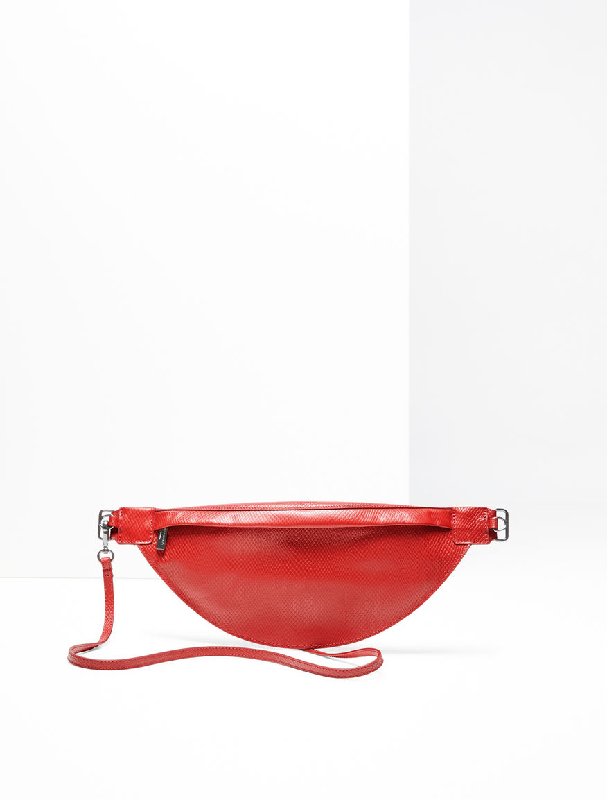 Python-print leather belt bag Weekend Maxmara